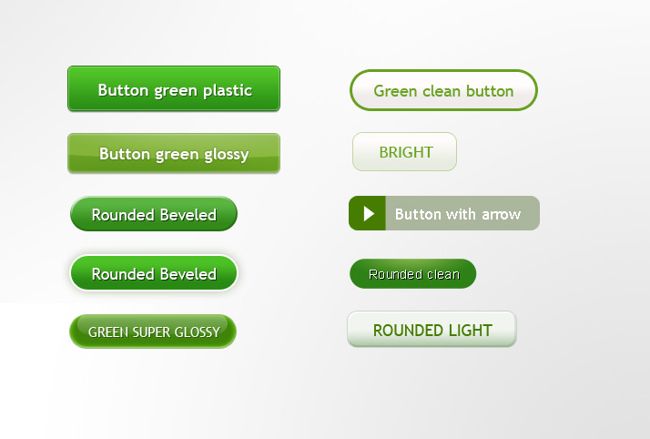 Green refreshing button PSD material
