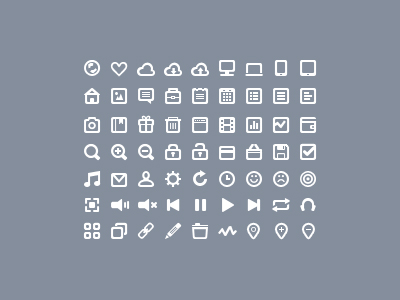 63 Mini Simple Icon Set