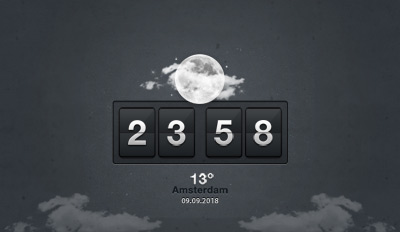 weather clock psd
