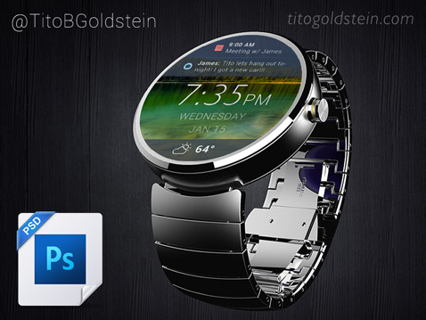 Android Wear Wearable Mockup