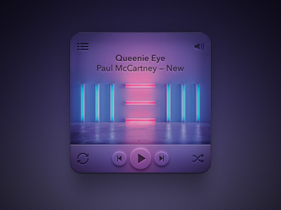 Colorful music player ui