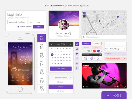 Flat phone ui kit