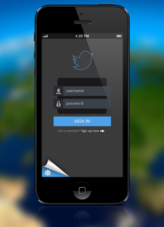 Mobile App Login Interface design