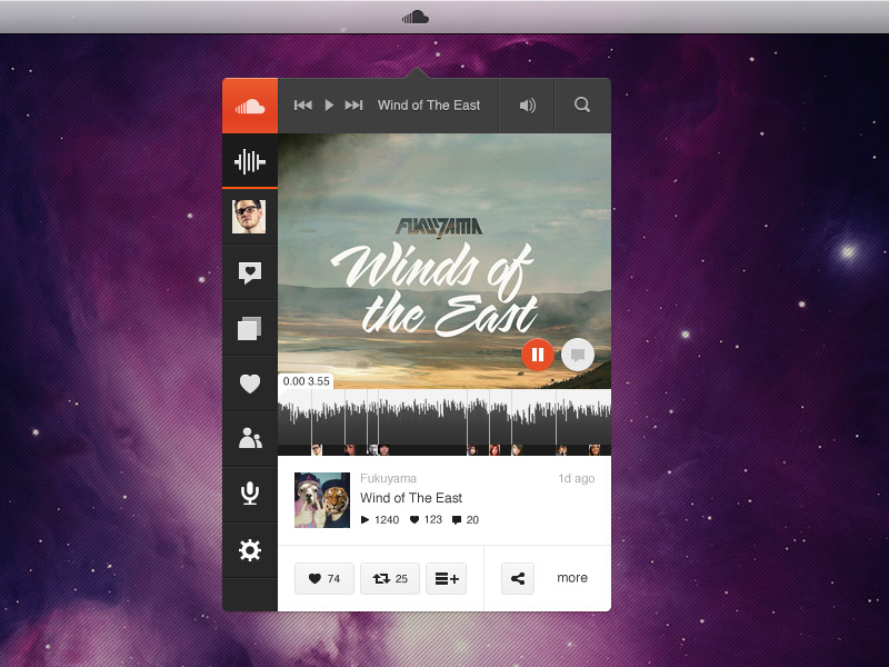 Soundcloud Music Player App Ui