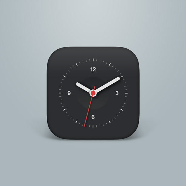 clock icon psd