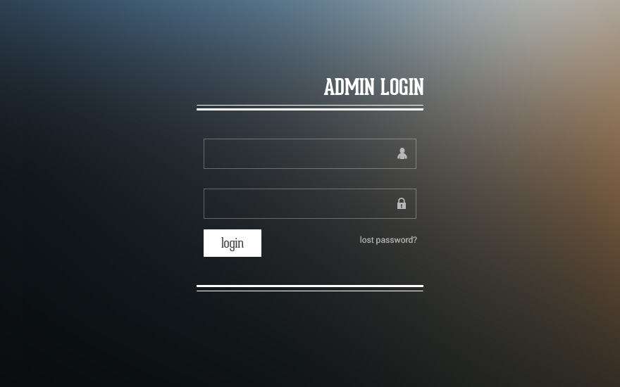 web or app admin login