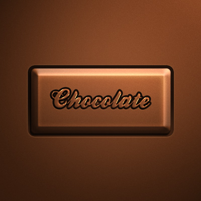 Chocolate text effect button