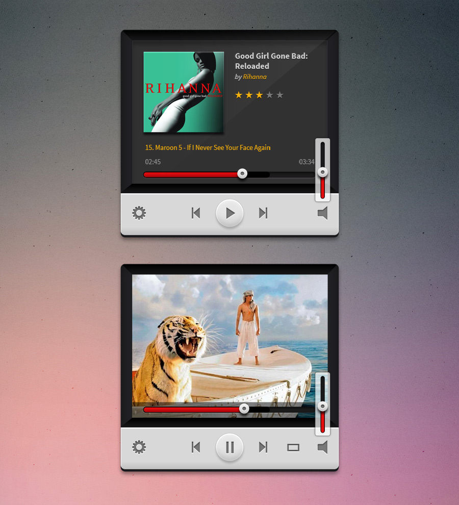 3D Music and Video Player