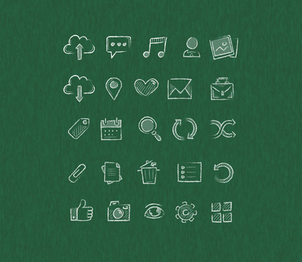 Hand Drawn Icons Psd