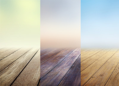3 Infinite Blurring Wooden Floors
