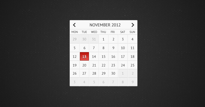 Simple calendar - Free PSD Files, Photoshop Resources & Templates