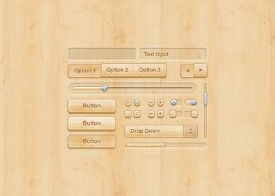 Wood UI Kit