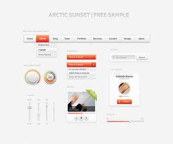 Web UI element design psd source file