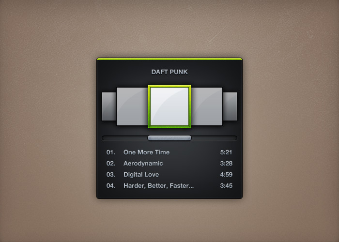 mini spotify ui psd - Free PSD Files, Photoshop Resources