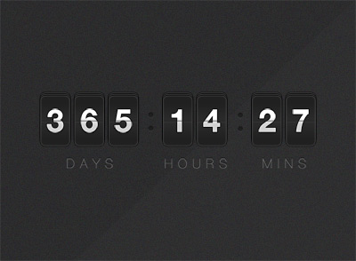 Countdown psd design