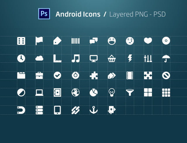 Androids Icons PSD