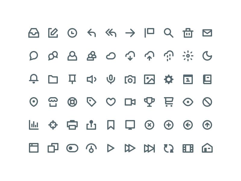 60 Simple icons