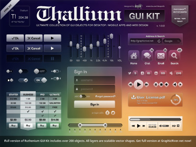 Colorful Thallium GUI Kit Design