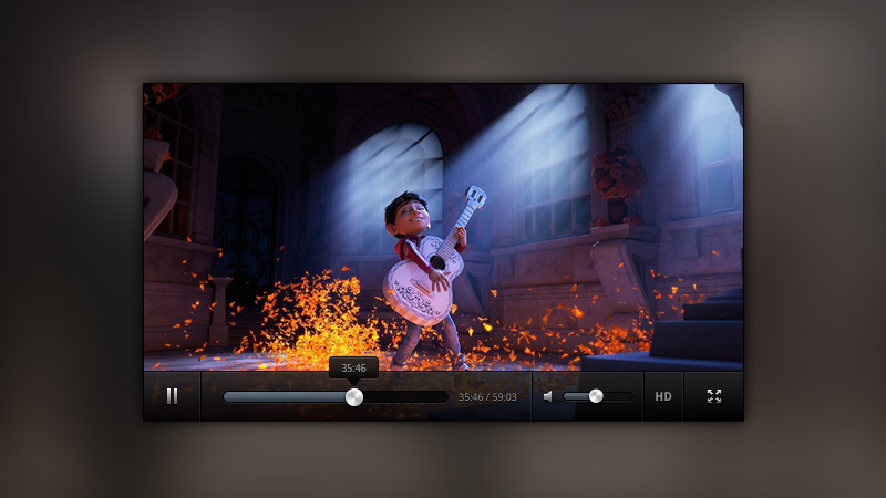 Dark Clean Video Player Free Psd Files Photoshop Resources