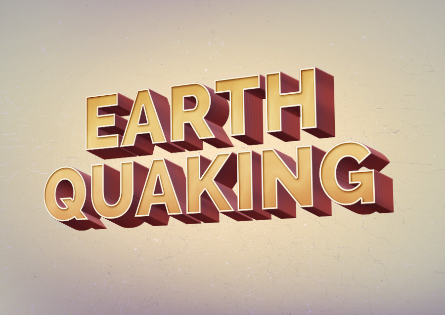 Earth Quaking Text Effect Psd File