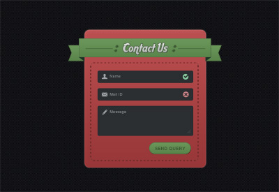 Contact us form panel PSD