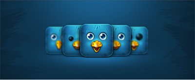 Cute bird avatar psd icon