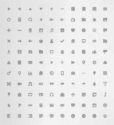 110 Free Flat Icons psd file for Web design