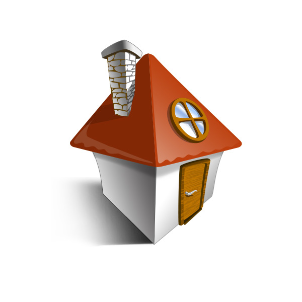 Vector layered house icon