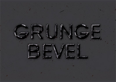 Grunge Bevel Text Effect Psd