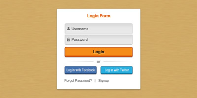 psd login form/sign in panel