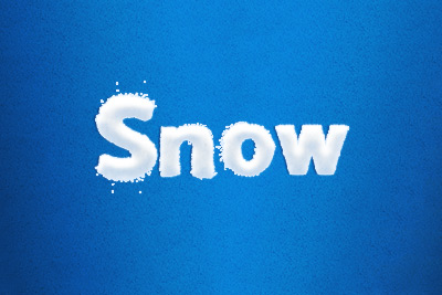 snow text layer style psd file