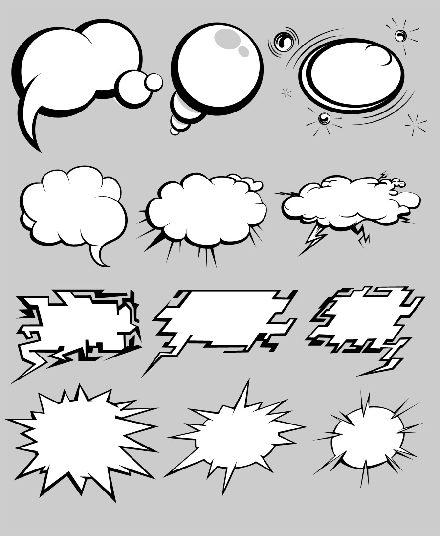 Comics Bubbles Pack