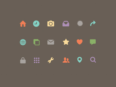 popular small icon psd file