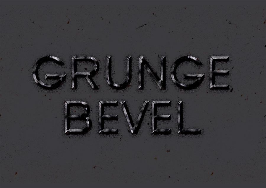 Grunge Bevel Text Effect Psd - Free PSD Files, Photoshop Resources