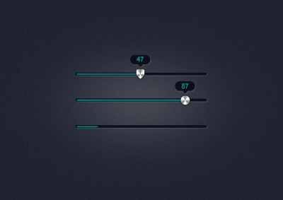 Sliders with indicators psd