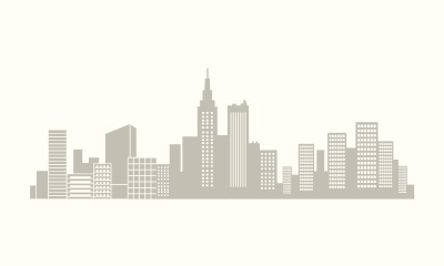 Simple city vector pattern