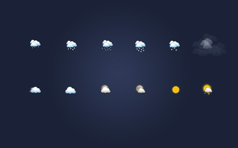 Weather Icons psd file
