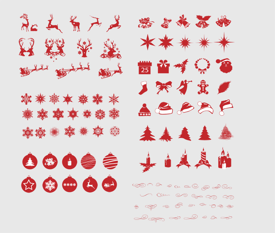Christmas Silhouettes Mega Pack