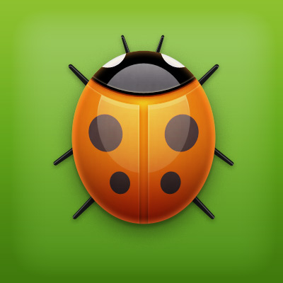 Ladybug illustration psd file