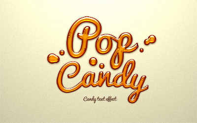 Psd Candy Water droplets Text Effect