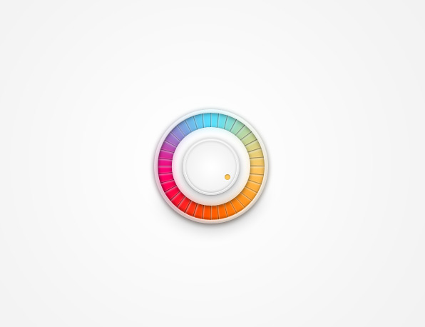 Rainbow Volume Knob vector psd