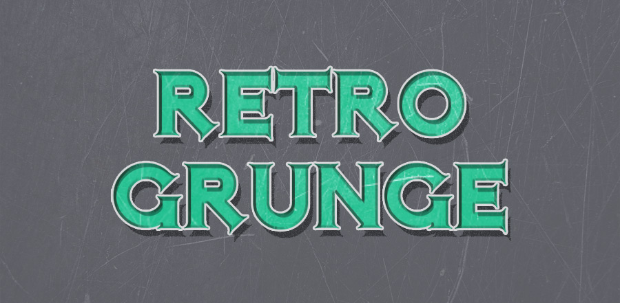 free psd retro grunge text effect