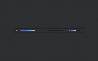 Dark Bold Music Player Psd