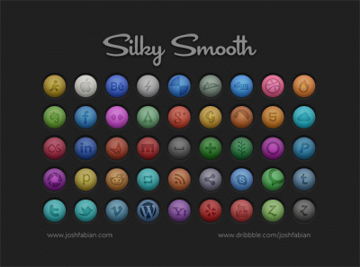 Silky Smooth Social Icons psd