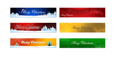 Christmas Holiday Banners PSD Set