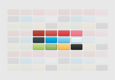 Colorful Modern Buttons Layer Styles