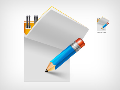 pencil writing pad vector icon
