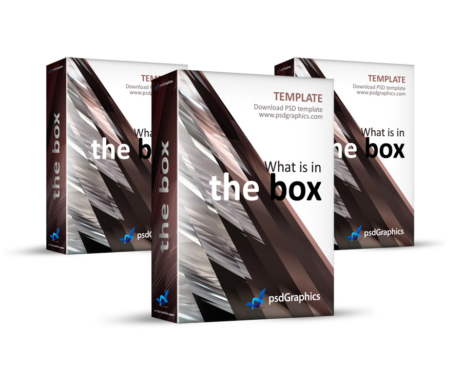 Abstract brown 3D book box template