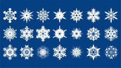 Christmas Snowflakes PSD Graphics Set