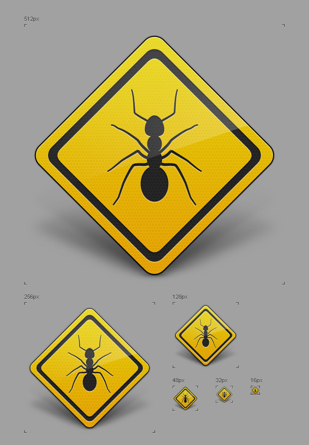 Ant illustration vector PSD file